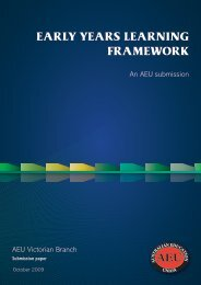 Early Years Learning Framework - Australian Education Union ...