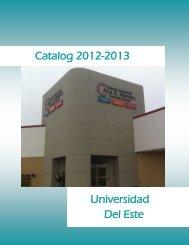 Catalog 2012-2013 Universidad Del Este