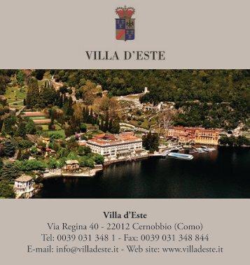 Villa d'Este Via Regina 40 - Virtual Panoramic Brochure