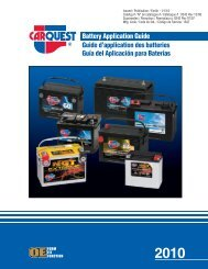 Battery Application Guide - CARQUEST Auto Parts