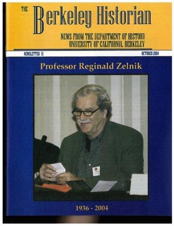 October 2004 Berkeley Historian XI.pdf - Department of History, UC ...