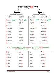 Substantiv ett- ord