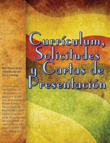 Currículum, Solicitudes y Cartas de