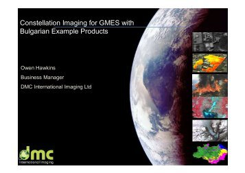 Constellation Imaging for GMES with Bulgarian Example Products