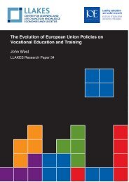 The Evolution of European Union Policies on Vocational ... - llakes