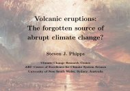 Volcanic eruptions - The University of New South Wales