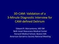 3D-CAM - American Geriatrics Society