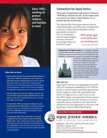 Quinnipiac University School of Law - Equal Justice America