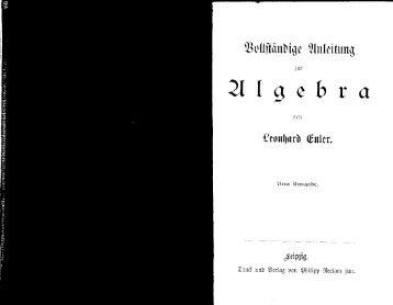 Euler, Algebra