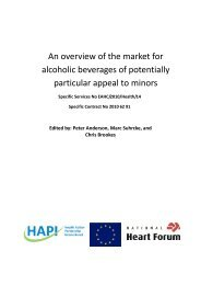 An overview of the market for alcoholic beverages of potentially ...
