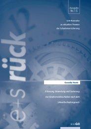 Erfassung, Bewertung und Sanierung von ... - E+S Rück