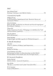 Inhaltsverzeichnis / Table of Contents - Ergon Verlag