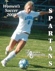 Meet the Spartans - Aurora University