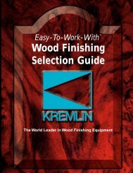 Wood Finishing Selection Guide - Kremlin Rexson Sames