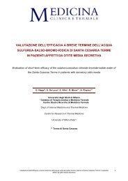 Valutazione dell'efficacia a breve termine dell'acqua sulfurea-salso