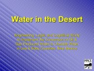 Water in the Desert - Water Resources Research Institute