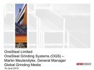 OneSteel Limited OneSteel Grinding Systems (OGS ... - Arrium