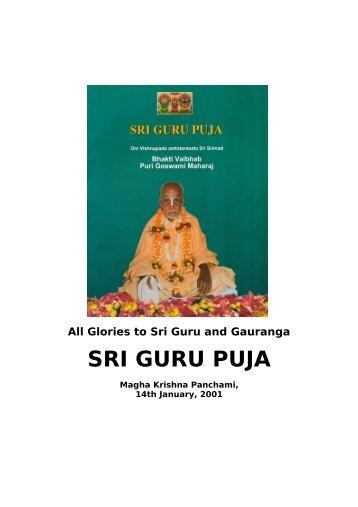 Sri Guru Puja 2001.pdf - Srila Bhakti Vaibhava Puri Maharaja