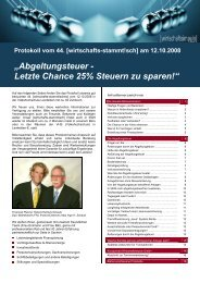 """""""Abgeltungsteuer - Letzte Chance 25% Steuern zu sparen!"""""""