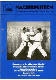 DKU-Nachrichten Nr. 3 - Chronik des deutschen Karateverbandes