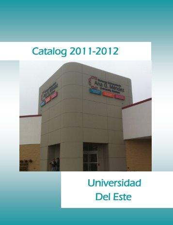 Catalog 2011-2012 Universidad Del Este