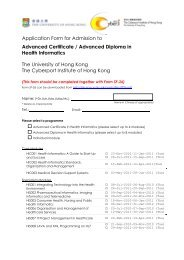 Application Form for Admission to Advanced Certificate / Advanced ...