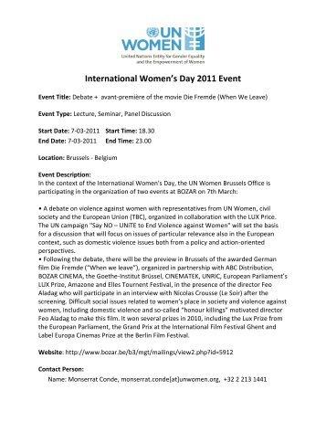 International Women's Day 2011 Event - UN Women