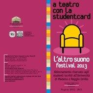 studentcard altrosuo.. - Teatro Comunale di Modena