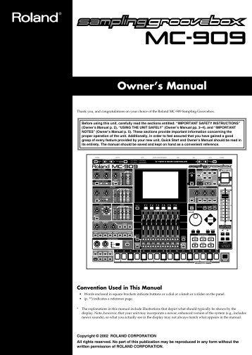 MC909 Manual - SampleKings