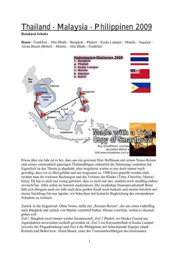 Thailand - Malaysia - Philippinen 2009 - R-scholtz.de