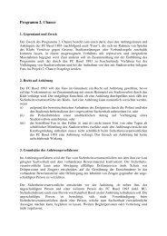 Reglement Programm 2. Chance - FC Basel