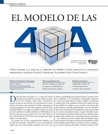 El modelo de las 4A - IAE Business School