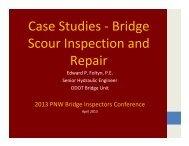 Case Studies - Bridge Scour Inspection - WSU Conference ...