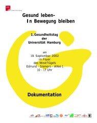 Gesund leben – und in Bewegung bleiben - Verwaltung - Universität ...