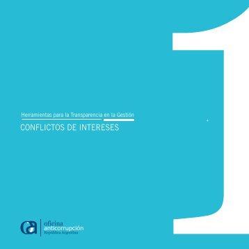 CONFLICTOS DE INTERESES - Oficina Anticorrupción