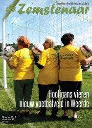 Hooligans vieren nieuw voetbalveld in Weerde - De Zemstenaar