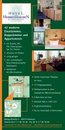 42 moderne Einzelzimmer, Doppelzimmer und Appartements