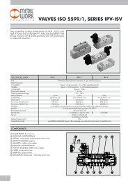 VALVES ISO 5599/1, SERIES IPV-ISV - Metal Work