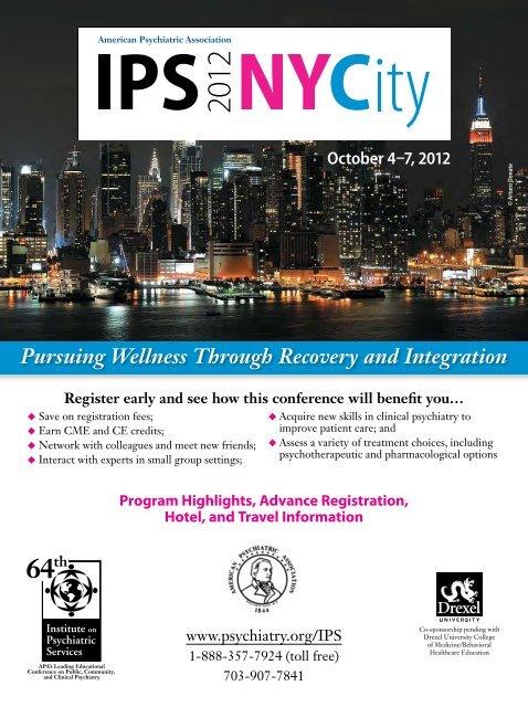 October 4–7, 2012 - American Psychiatric Association