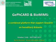 a combined platform that support research on hereditary diseases