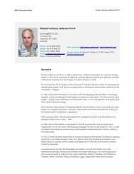 Richard Anthony Jefferson PH.D Synopsis - Patent Lens