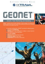 In standard configuration, GEONET® provides the ... - Seatech