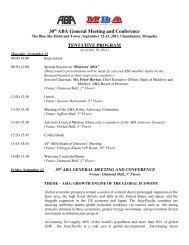 Programme - Asian Bankers Association