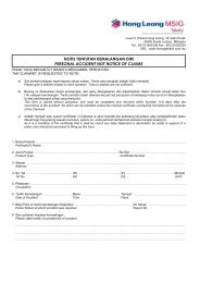 Personal Accident Notice of Claims (Hong Leong MSIG ... - SPAD