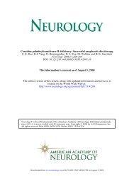 Carnitine palmitoyltransferase II deficiency - Fatty Oxidation Disorders
