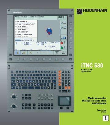 Manual Heidenhain Fresadora ITNC 530