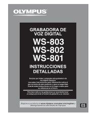 manual de instrucciones - Olympus