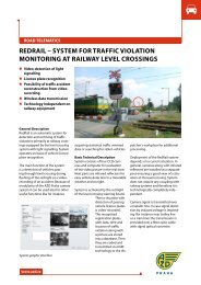 REDRAIL – SySTEM fOR TRAffIC vIOLATIOn ... - AŽD Praha, sro