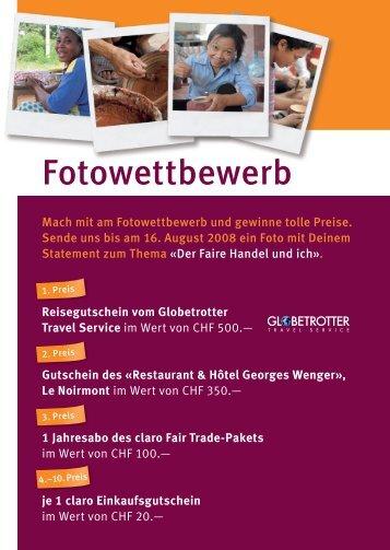 Fotowettbewerb - Swiss Fair Trade