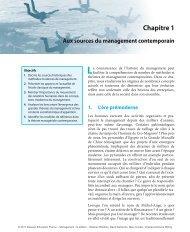 Chapitre 1 Aux sources du management contemporain La - Pearson